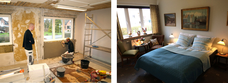 Before and after, renoveringen af Hotel Lolland